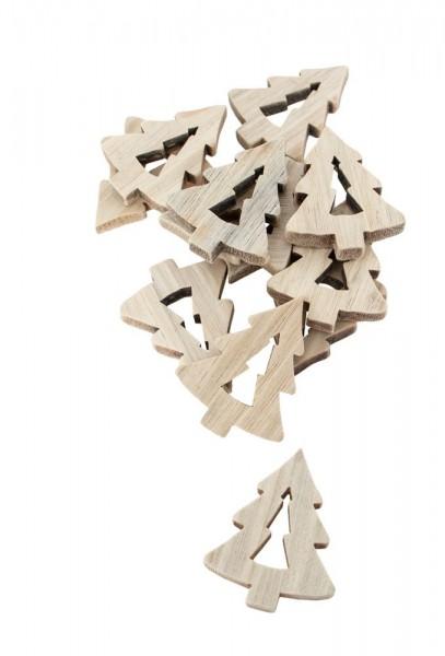 Tischdeko Holz Tannen 12 Stk. 4cm