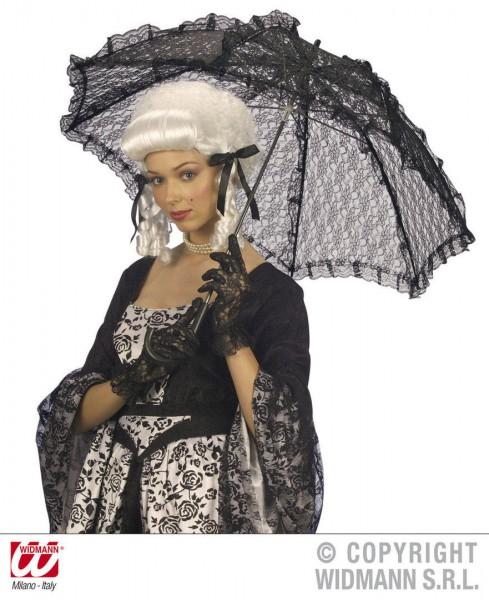 Spitzen-Schirm schwarz