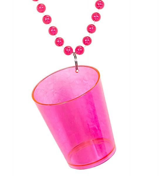 Schnapsglaskette Neon pink
