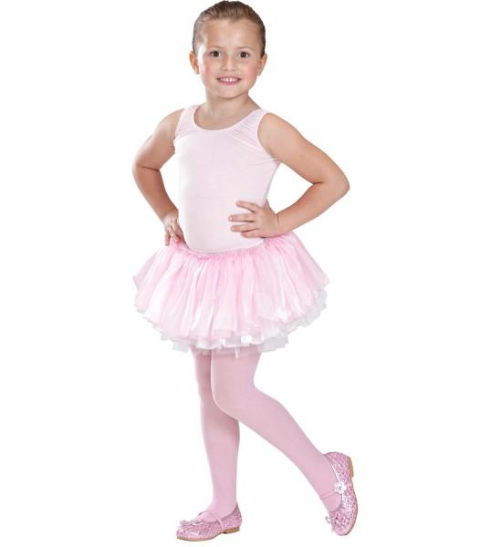 Ballettröcken aus Satin+Tüll rosa/weiss