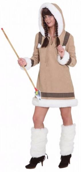 Eskimo Frau de Luxe Kapuzenkleid