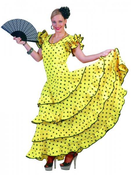 Flamenco Kleid gelb Spanierin