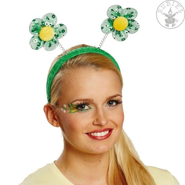 Haarreif Blumen grün