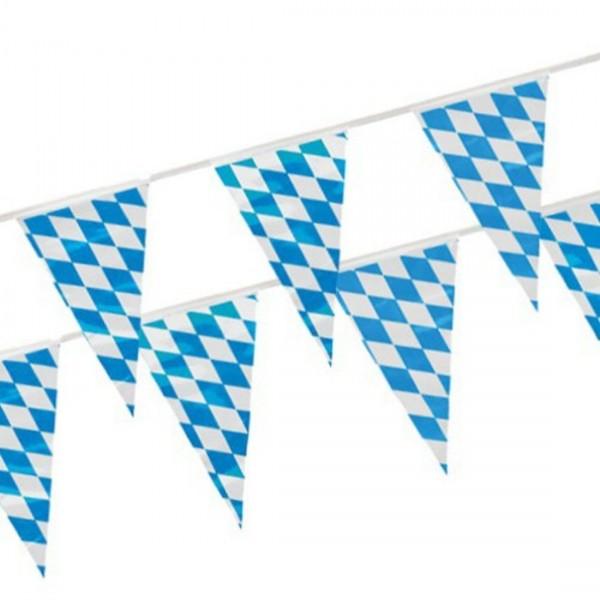 Wimpelkette 4m Bayrisch blau