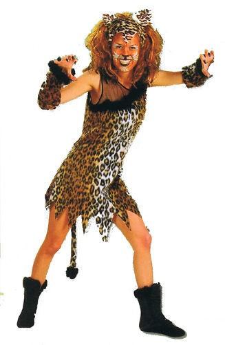 Mietzekatze Leopard Tiger Kostüm