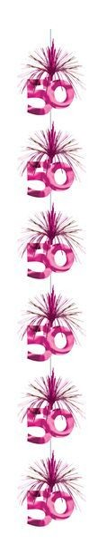 Girlande pink Kaskade 50 Geburtstag Hängedeko Party Dekoration Cascade
