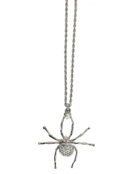 Kette Spinne 30 cm silber