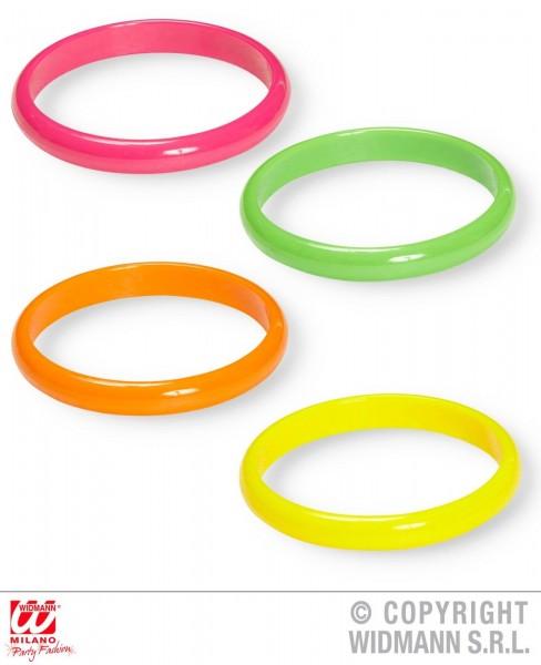 Neon Armbänder 4er Set