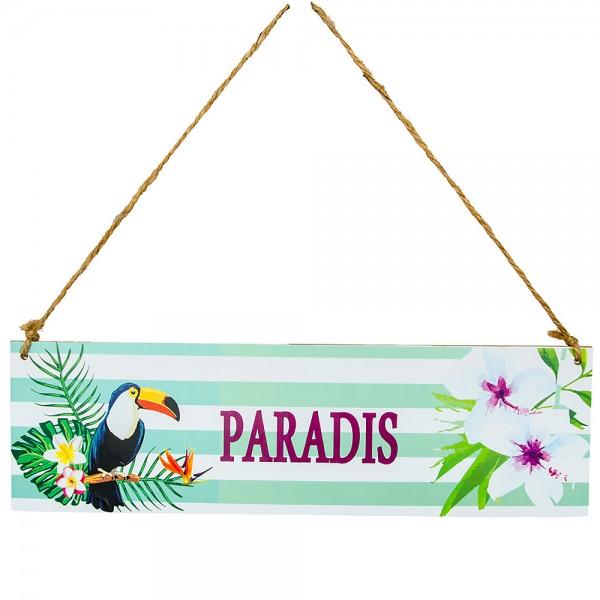 Holzschild Paradis