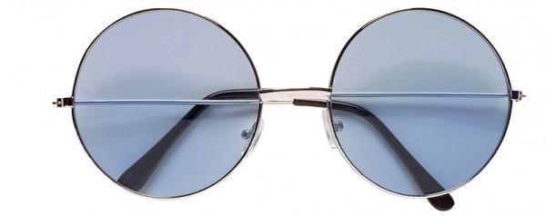 Brille Nickel groß blau