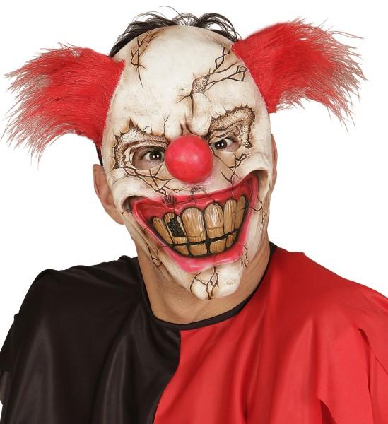 Killer Clownmaske mit Haar