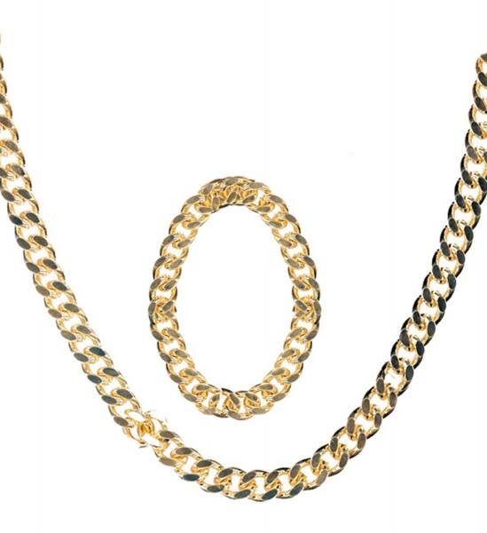 Goldhalskette und Armband