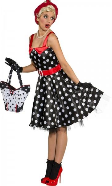 Rock n Roll Kleid schwarz weiss gepunktet