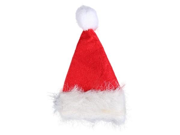 Weihnachtsmannmütze klein mit Haarspange