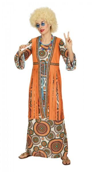 Hippiekleid mit Weste lang