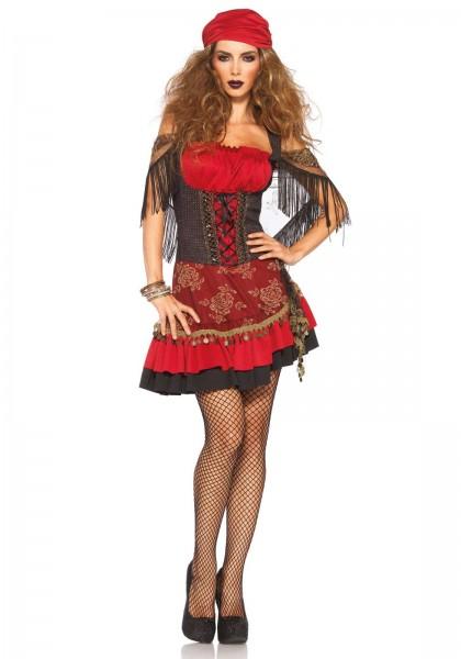 Mystic Vixen Kostüm burgund schwarz