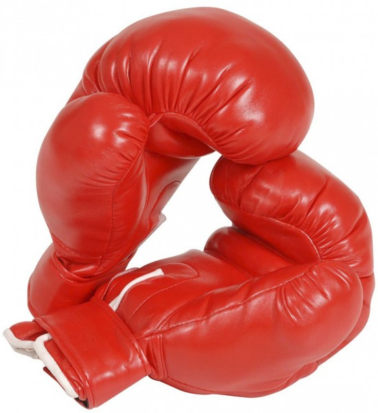 Professionelle Boxhandschuhe rot