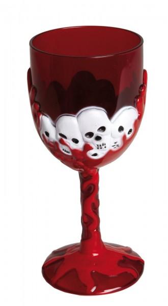 Horrorweinglas Totenkopf
