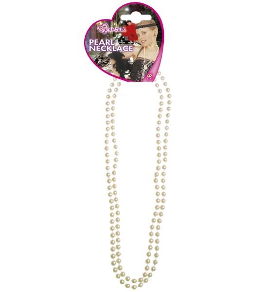 Weiße Glamour Perlenkette