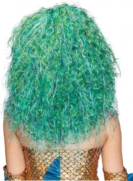 Perücke Wassernixe, Meerjungfrau blau grün meliert