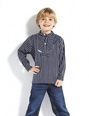 Kinder Fischerhemd Finkenwerder-Stil breite und schmale Streifen