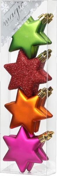 Kunststoff Sterne 8 tlg. 6cm