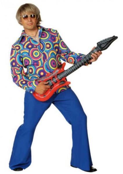 Herrenhemd Crazy blau 70er Jahre Hippie