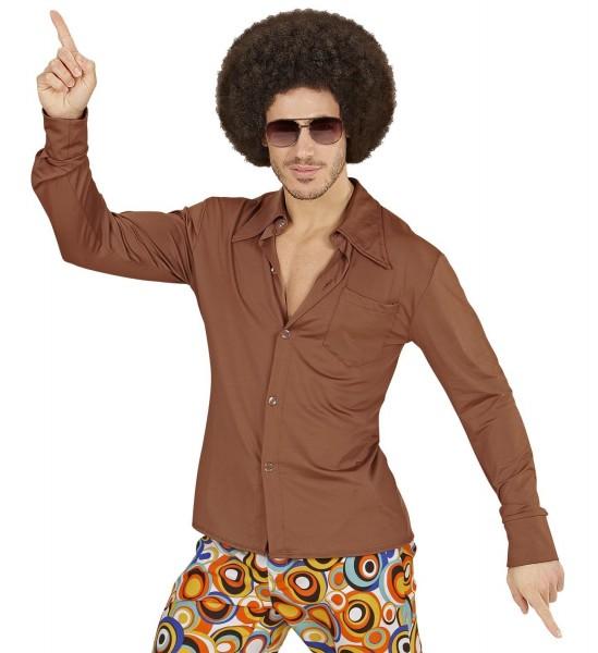 Herrenhemd Groovy 70s braun