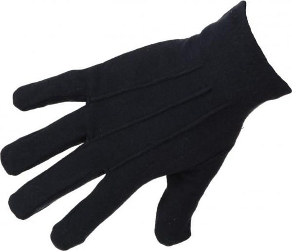 Handschuhe mit Biese schwarz