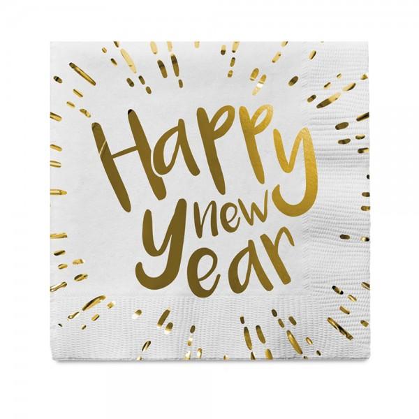 Servietten Happy New Year 12-tlg.