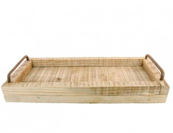 Holztablett mit Henkel 26x16x4,5cm