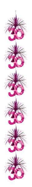 Girlande pink Kaskade 30 Geburtstag Hängedeko Party Dekoration Cascade