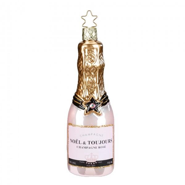 Christbaumschmuck Champagner Rose 12,5cm