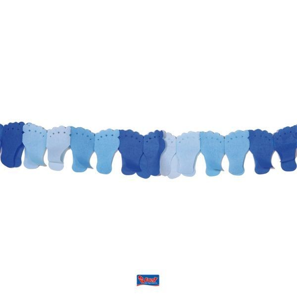Girlande Füßchen blau