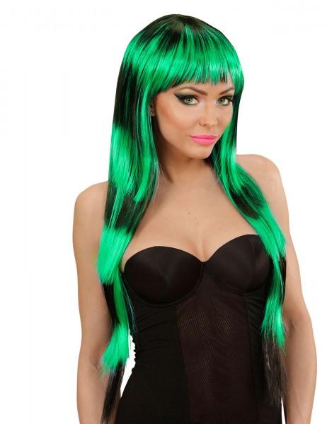 Streaks Fashion Perücke in schwarz grün