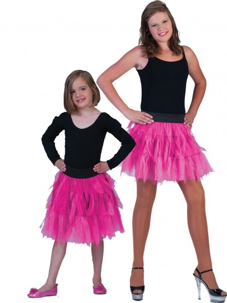 Tüllrock Kinder pink OneSize