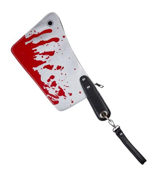 Handtasche blutiges Beil