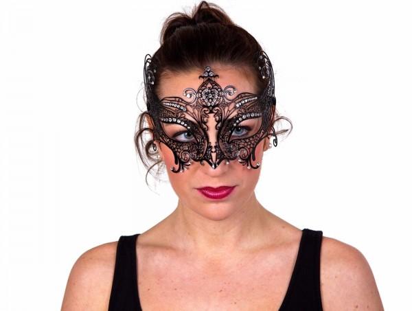 Schmuckmaske schwarz Metall