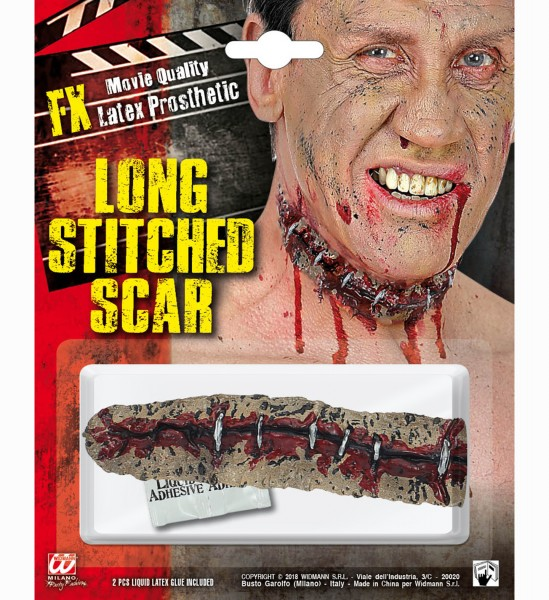 Narbe lang Stitched Scar