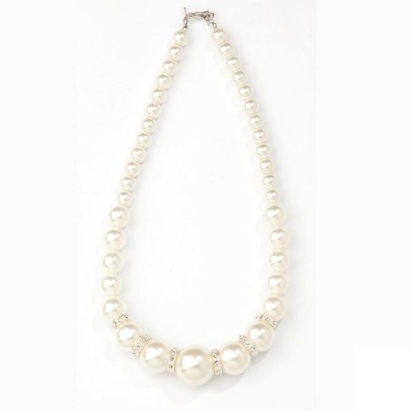 Perlenkette Deluxe weiß