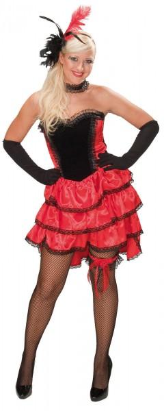 Can Can Girl Damen Kleid Saloon Girl