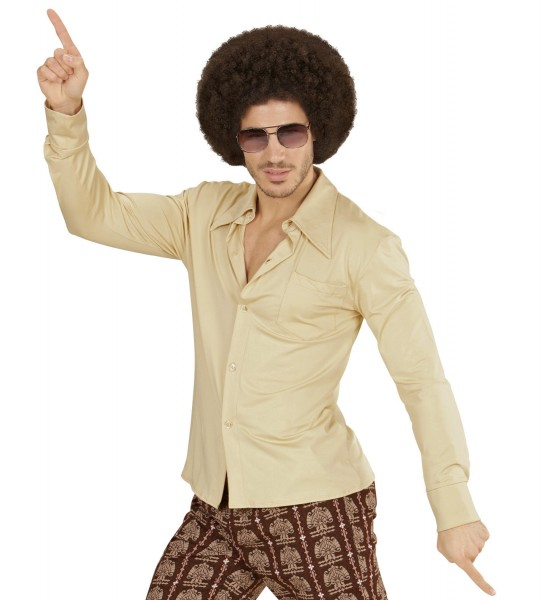 Herrenhemd Groovy 70s beige