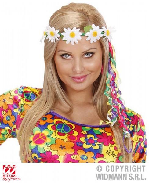 Haarschmuck mit Gänseblümchen und Multicolorbändern