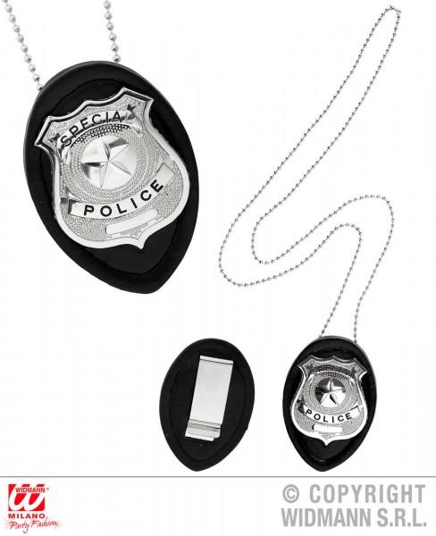 Polizeimarke mit Halskette