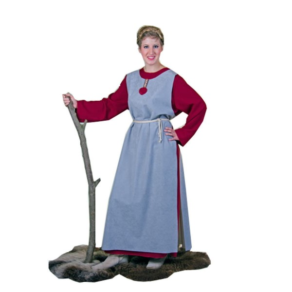 Wikingerin 2tlg. Kleid mit Überwurf M