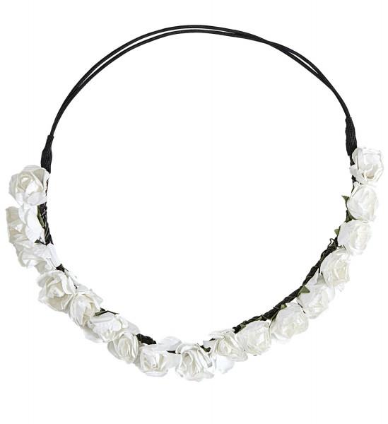 Stirnband mit weißen Blumen