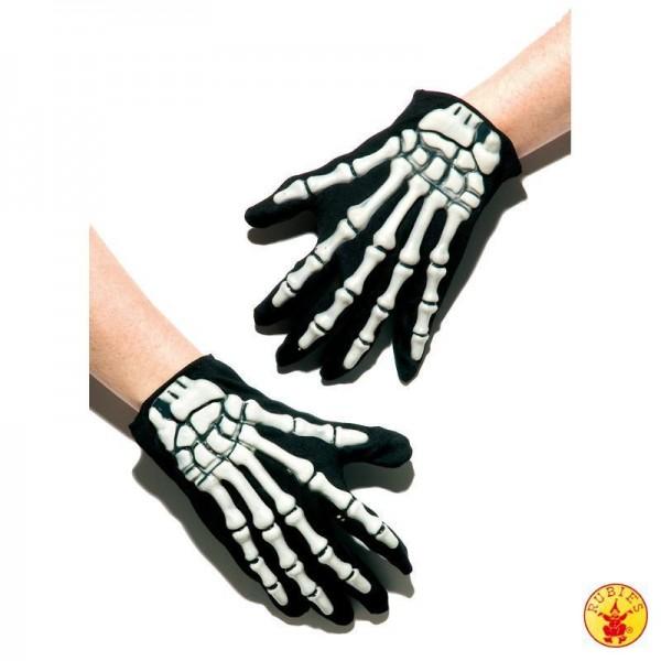 Skelett Handschuhe mit Applikation