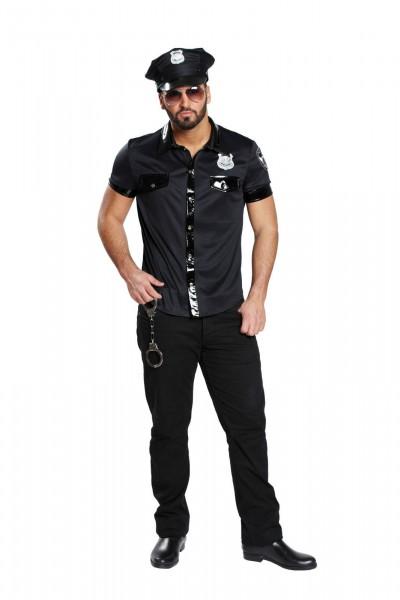 Sexy Polizist schwarz
