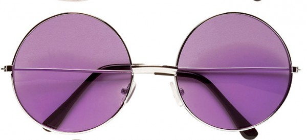 Brille Nickel groß lila