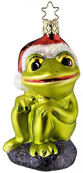 Christbaumschmuck Weihnachtsfrosch 11,5cm